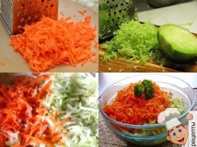 салат из зеленой редьки и моркови