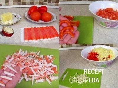 салат красное море с красным перцем