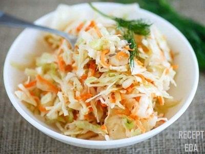 салат с редькой и морковью с капустой