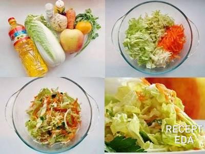 салат с сельдереем и пекинской капустой