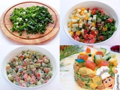 салат с семгой картошкой и яйцом