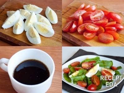 салат с шпинатом рецепт и помидорами
