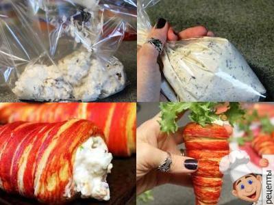 салат в слоеных трубочках