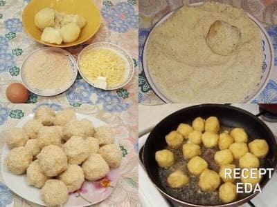 шарики из картофельного пюре с сыром