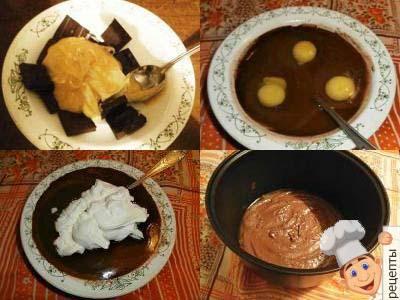 шоколадно творожный кекс в мультиварке