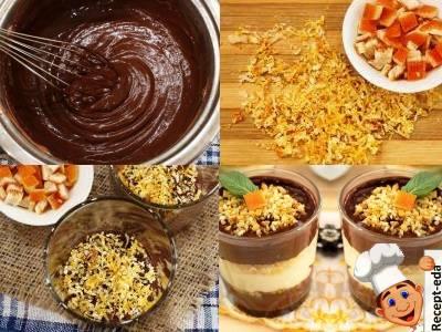шоколадно ванильный пудинг, рецепт