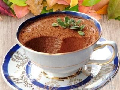 Шоколадный мусс со сливками, рецепт