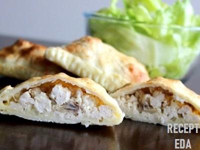 слойки с курицей и грибами рецепт