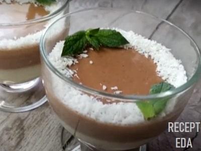 сметанное желе с какао рецепт