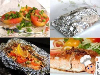 стейк рыбы в фольге в духовке рецепт