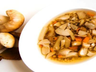 как варить суп из свежих грибов с перловкой, рецепт