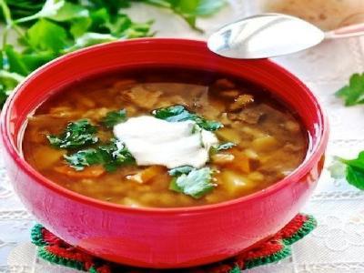 Грибной суп с перловкой, рецепт