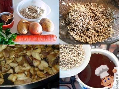 суп перловый с грибами, рецепт, как приготовить