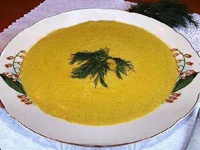 Суп пюре из капусты брокколи с сыром и сливками