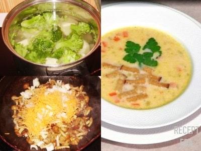 суп пюре с брокколи и грибами рецепт