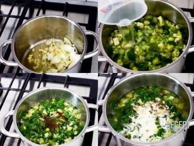 суп пюре с брокколи и шпинатом рецепт