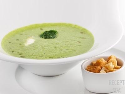 суп пюре с брокколи и шпинатом