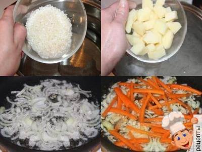 суп грибной с рисом, рецепт рисовый суп с грибами