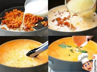 суп с креветками и овощами