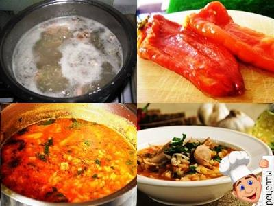 суп харчо из курицы и риса