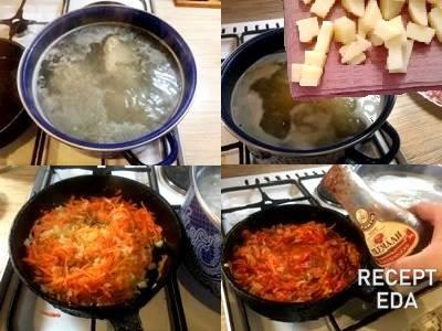 суп харчо из курицы с рисом и картошкой рецепт