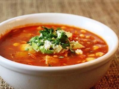 Суп харчо из свинины с рисом и томатной пастой