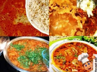 суп харчо со свининой и рисом