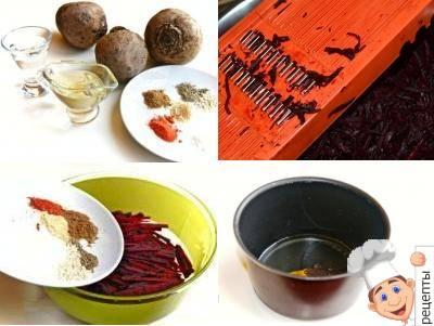 свекла по-корейски рецепт в домашних условиях, корейский салат из свеклы рецепт