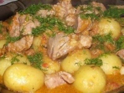 Свинина тушеная с картошкой, рецепт