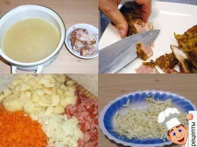 сырный суп с копченостями рецепт