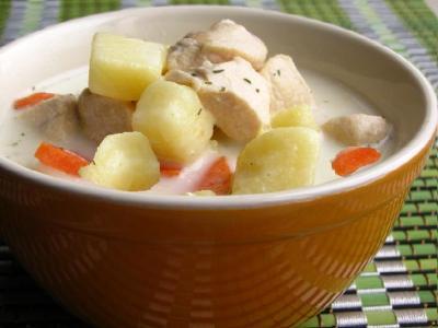 Куриный сырный суп с картофелем