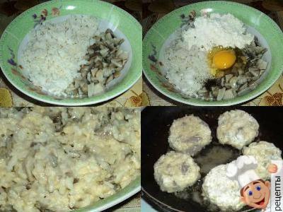 тефтели постные с рисом и грибами без мяса