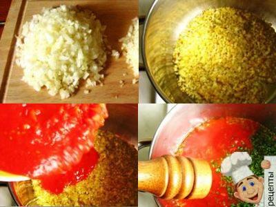 томатная подливасфрикадельками