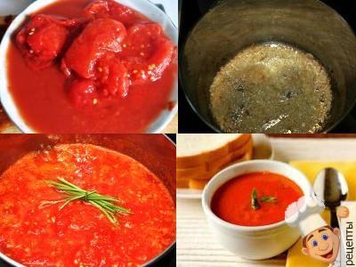 томатный суп из консервированных томатов