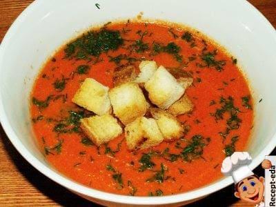 Томатный суп пюре со сливками, рецепт