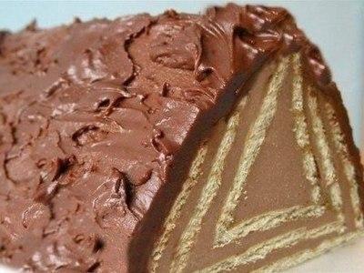 Торт из печенья с творогом без выпечки