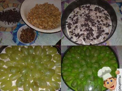 торт из печенья с фруктами без выпечки