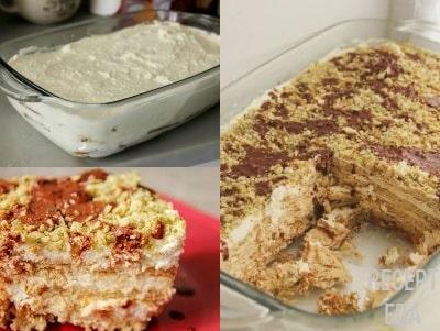 торт из печенья с сыром маскарпоне без выпечки