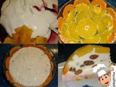 торт из творога с желатином без выпечки
