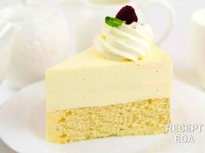 торт с лимонный муссом