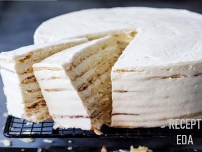 торт с маскарпоне и сгущенкой