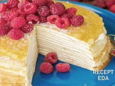 торт с творогом и сметаной
