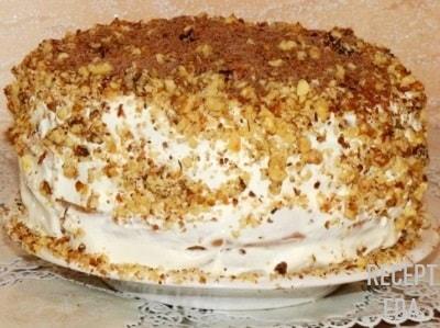 торт сметанник, простой рецепт