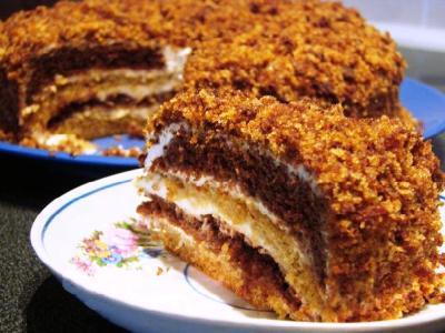 торт сметанник со сгущенкой