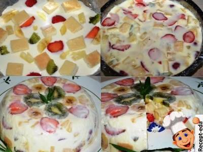 торт со сметанным кремом и желатином