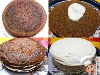 торт трухлявый пень с вареньем из черной смородины