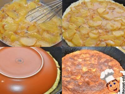 тортилья испанская картофельная на сковороде