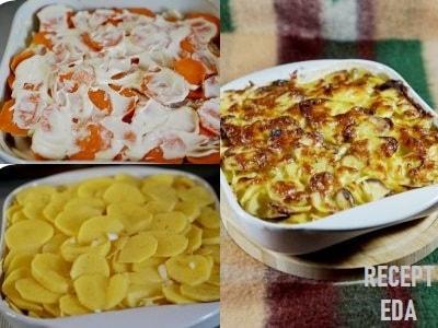 треска с картошкой в духовке с майонезом рецепт