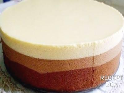 Торт мусс Три шоколада, рецепт