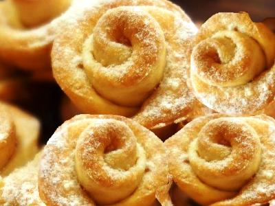 печенье розочки из творожного теста